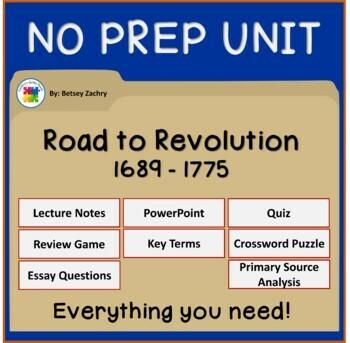 Road to Revolution: Causes of the American Revolution MEGA Bundle!
