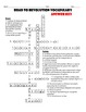 Road to Revolution Vocabulary Crossword Puzzle
