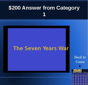 Road to Revolution JEOPARDY Game