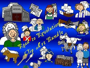 Road to Revolution-Paul Revere Clipart Bundle