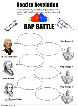 Road to Revolution RAP BATTLE: 3 options
