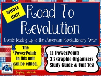 Road to the American Revolution UNIT PowerPoints, Organize