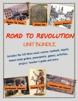 The Road to Revolution unit bundle, including text