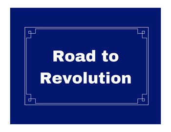 Road to Revolution Word Wall