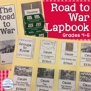 Road to Revolutionary War Lapbook/Interactive Notebook for Upper Elementary