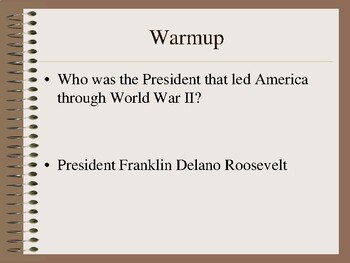Road to WWII PowerPoint (PDF version)