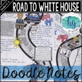 Road to White House Doodle Notes and Digital Guided Notes