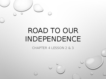 Road to our independence