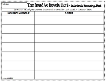 Road to the American Revolution & American Revolution Task Cards BUNDLE SET