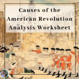 American Revolution Cause and Effect Table and Chart