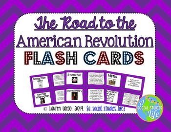 Road to the American Revolution and American Revolution Flash Cards BUNDLE SET