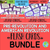 Road to the American Revolution and American Revolution Flash Cards BUNDLE
