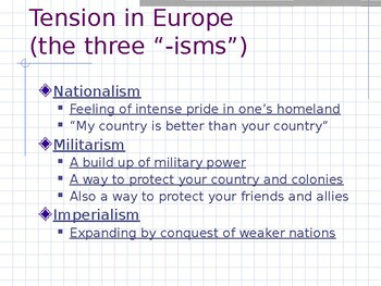 Road to the Great War - pre-WWI PowerPoint