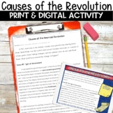 Causes of the American Revolution Activity