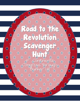 Road to the Revolution Scavenger Hunt