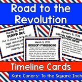 Road to the Revolution Timeline cards