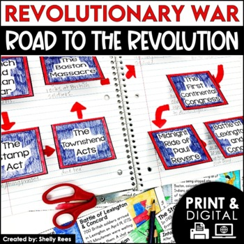 American Revolution - Revolutionary War Causes - Interactive Notebook Unit