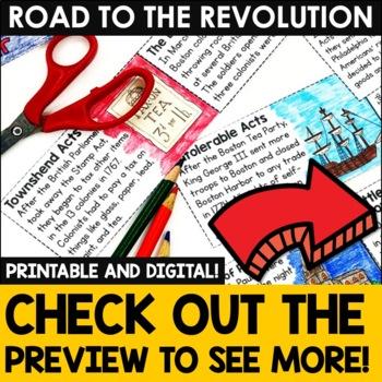 American Revolution - Revolutionary War Causes - Interactive Notebook Unit