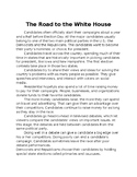 Road to white house notes
