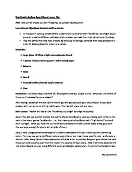 Roadmap to College Board Game Lesson Plan