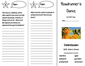 Roadrunner's Dance Trifold - California Treasures 4th Grade Unit 5 Week 2