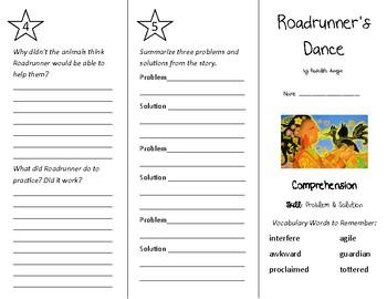 Roadrunner's Dance Trifold - Treasures 4th Grade Unit 3 Week 1 (2009)