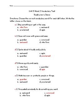 Roadrunner's Dance Vocabulary Test