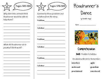 Roadrunner's Dance Trifold - Treasures 4th Grade Unit 5 Week 2 (2011)