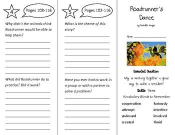 Roadrunner's Dance Trifold - Wonders 3rd Grade Unit 2 Week 1