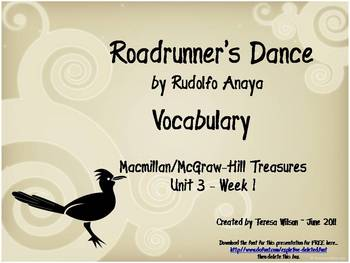 Roadrunners Dance - Vocabulary