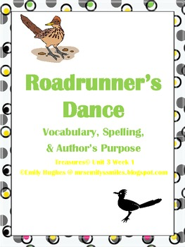 Roadrunner's Dance Vocabulary, Spelling & Author's Purpose Activities