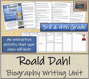 Roald Dahl - 3rd & 4th Grade Close Reading & Biography Bundle