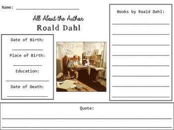 Roald Dahl Author Study