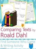Roald Dahl Author Study {NO PREP Writing Activities & Game}