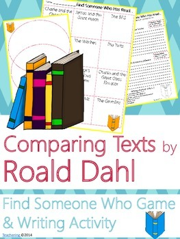 Roald Dahl Author Study {NO PREP Writing Activities & Game}
