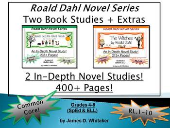 Roald Dahl Author Study Witches & James & the Giant Peach