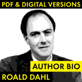 Roald Dahl Author Study Worksheet, Easy Biography Activity, CCSS