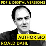 Roald Dahl Author Study Worksheet, Biography Activity, PDF