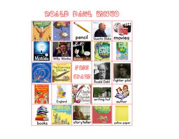 Roald Dahl Bingo