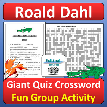 Roald Dahl Books Quiz Crossword