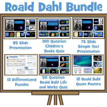 Roald Dahl Bumper Bundle - Presentations, Quizzes, Puzzle Pack, Quote Posters