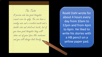 Roald Dahl Centenary Assembly / Lesson PowerPoint - The Life and Works of Dahl