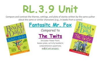 Roald Dahl Compare and Contrast Unit