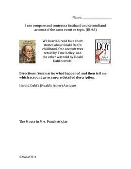 Roald Dahl Comparisons