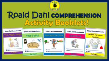 Roald Dahl Comprehension Activity Booklets Bundle!(for Grades K-3)