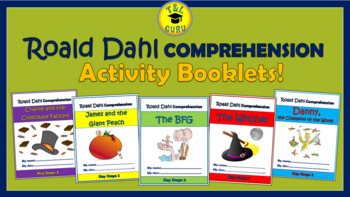 Roald Dahl Comprehension Activity Booklets Bundle!(Grades 2-6)
