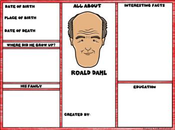 Roald Dahl Digital Research Brochure in Google Slides™