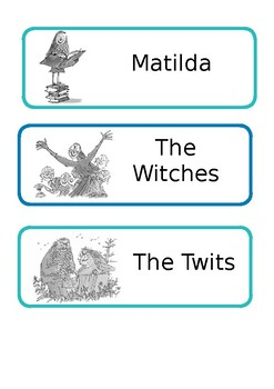 Roald Dahl Draw Labels/Table Names