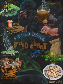 Roald Dahl Food Chart; Original Artwork Print; Literacy, R