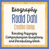 Roald Dahl Biography Informational Texts Activities
